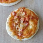 Pizzas individuelles jambon fromage