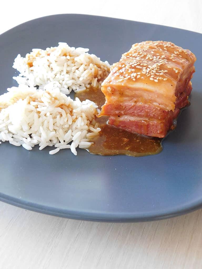 Poitrine de cochon laquée