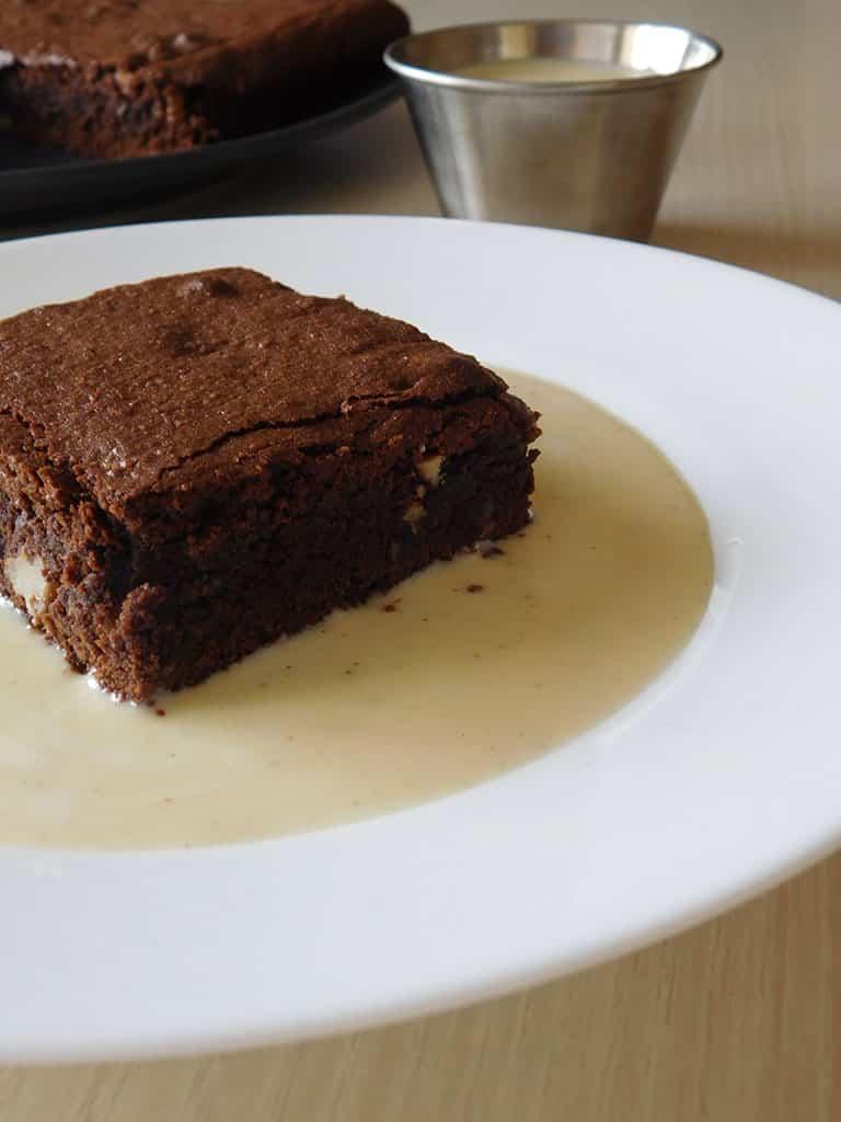 Brownie crème anglaise