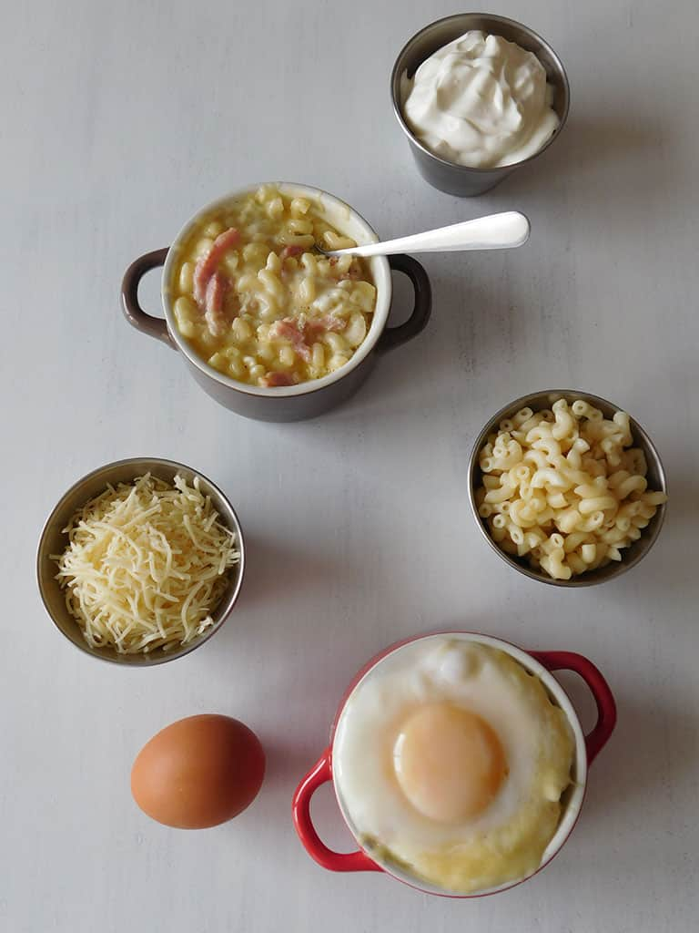 Oeufs cocottes façon carbonara | Cooking and Cakes