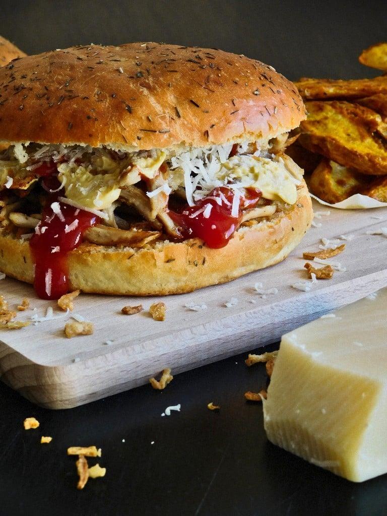 Burger ou sandwich au cochon