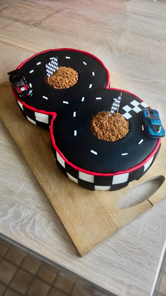 Cake Design circuit de voiture