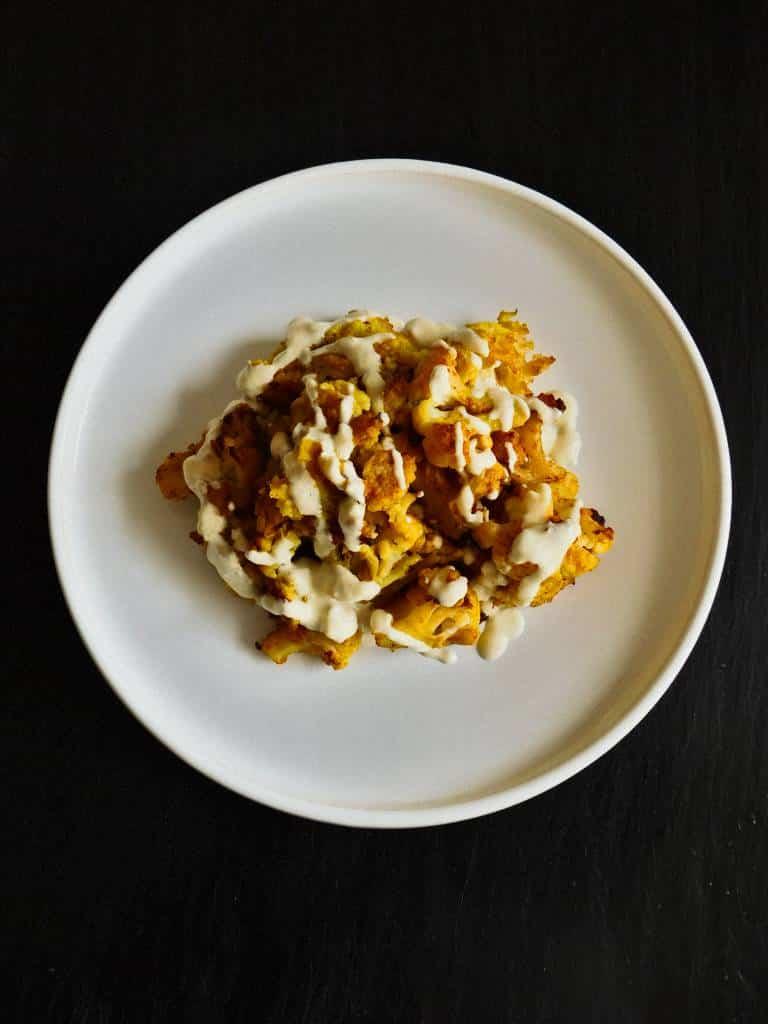 Chou-fleur rôti aux épices et crème de chou-fleur