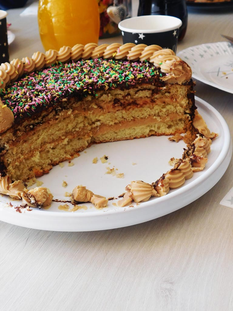 Gâteau d'anniversaire ganache spéculoos