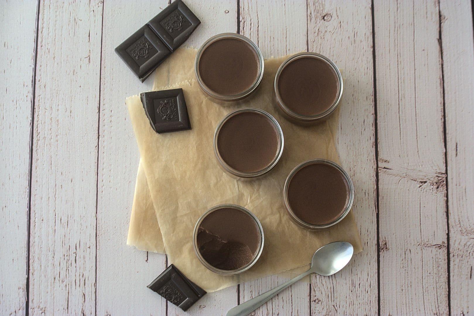 Crèmes chocolat Keto (régime cétogène)